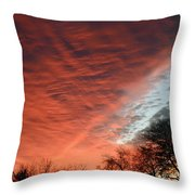 Red Velvet Sky Throw Pillow