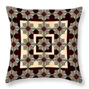 Red Vine Throw Pillow