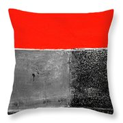 Red Wall In Black And White Throw Pillow