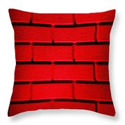 Red Wall Throw Pillow by Semmick Photo