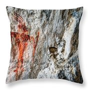 Red Warrior Throw Pillow