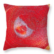 Red Whirlpool Throw Pillow