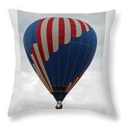 Red White And Balloon 2 Throw Pillow