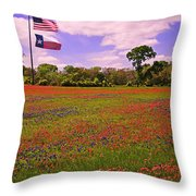 Red White And Beautiful Throw Pillow