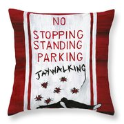 Red White And Black Throw Pillow by Edward Fuller