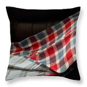 Red White And Blue Quilt  Throw Pillow