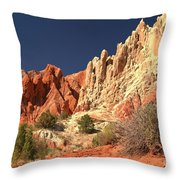 Red White And Blue Sky Throw Pillow