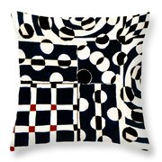 Red White Black Number 2 Throw Pillow by Carol Leigh