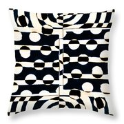 Red White Black Number 3 Throw Pillow