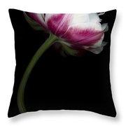 Red White Double Tulip Throw Pillow
