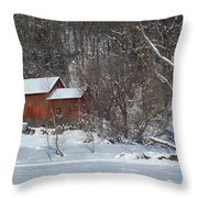 Red White Throw Pillow