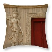 Red Window Chiang Mai Throw Pillow