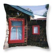 Red Windows Throw Pillow