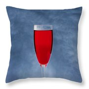 Red Wine With Storm Clouds Throw Pillow