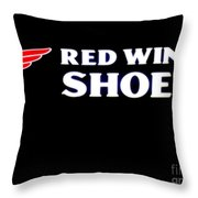Red Wing Shoes 2 Throw Pillow
