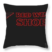 Red Wing Shoes Painted Throw Pillow