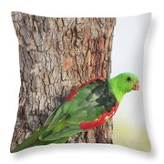 Red-winged Parrot Throw Pillow