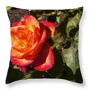 Red With A Little Yellow Throw Pillow