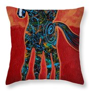 Red With Rope Throw Pillow