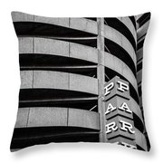 Red Zone Parking Throw Pillow