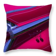 Red1959 Cadillac Throw Pillow