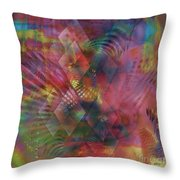 Redazzled - Square Version Throw Pillow