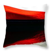 Redblackred Throw Pillow