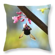 Redbud And The Bumble Throw Pillow