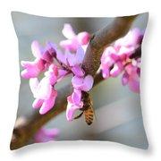 Redbud Pollinator Throw Pillow