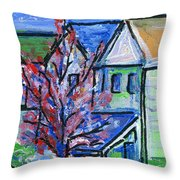 Redbud Tree At West Cape May Throw Pillow