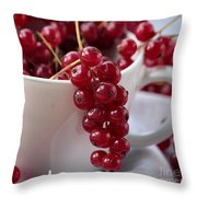 Redcurrant Close Up Throw Pillow