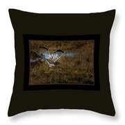 Reddish Egrets Throw Pillow