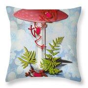 Redfrog And The Magic Mushroom Throw Pillow