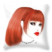 Redhead Cassia Throw Pillow by Renate Janssen