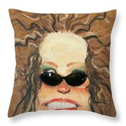 Ginger In Sunglasses Throw Pillow