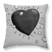Redheart In Black And White2 Throw Pillow