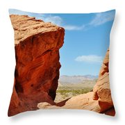 Redstone Canyon Throw Pillow