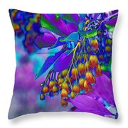 Redvien Flowers 2 Throw Pillow
