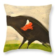 Redwing Muses Throw Pillow