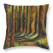 Jedediah Smith Redwoods State Park Throw Pillow