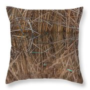 Reed Water Reflection Throw Pillow