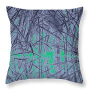 Reed Water Reflection Light Fantasy Throw Pillow
