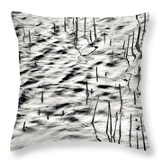 Reeds In Ripples Throw Pillow