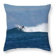 Reef Surfer Moorea Throw Pillow