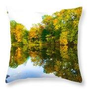 Reflected Autumn Glory Throw Pillow