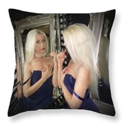 Reflected Beauty Throw Pillow