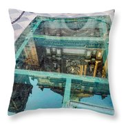 Reflected Cathedral Throw Pillow