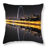 Reflected St. Louis Throw Pillow