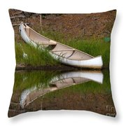 Reflecting Canoe Throw Pillow