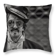 Reflecting Glasses Throw Pillow